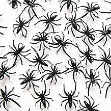 """1 1/2"""" Plastic Spiders, 72 Pack"""