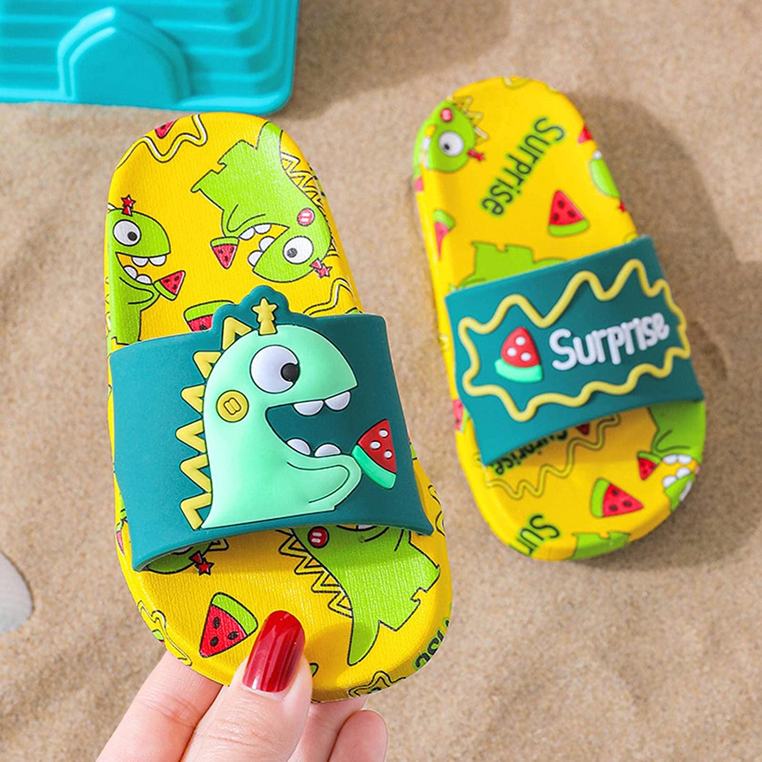 N\C Limited time for free shipping Dedication Children's Slipper for Boy Girl Shoes Flops Flip Beach Funny