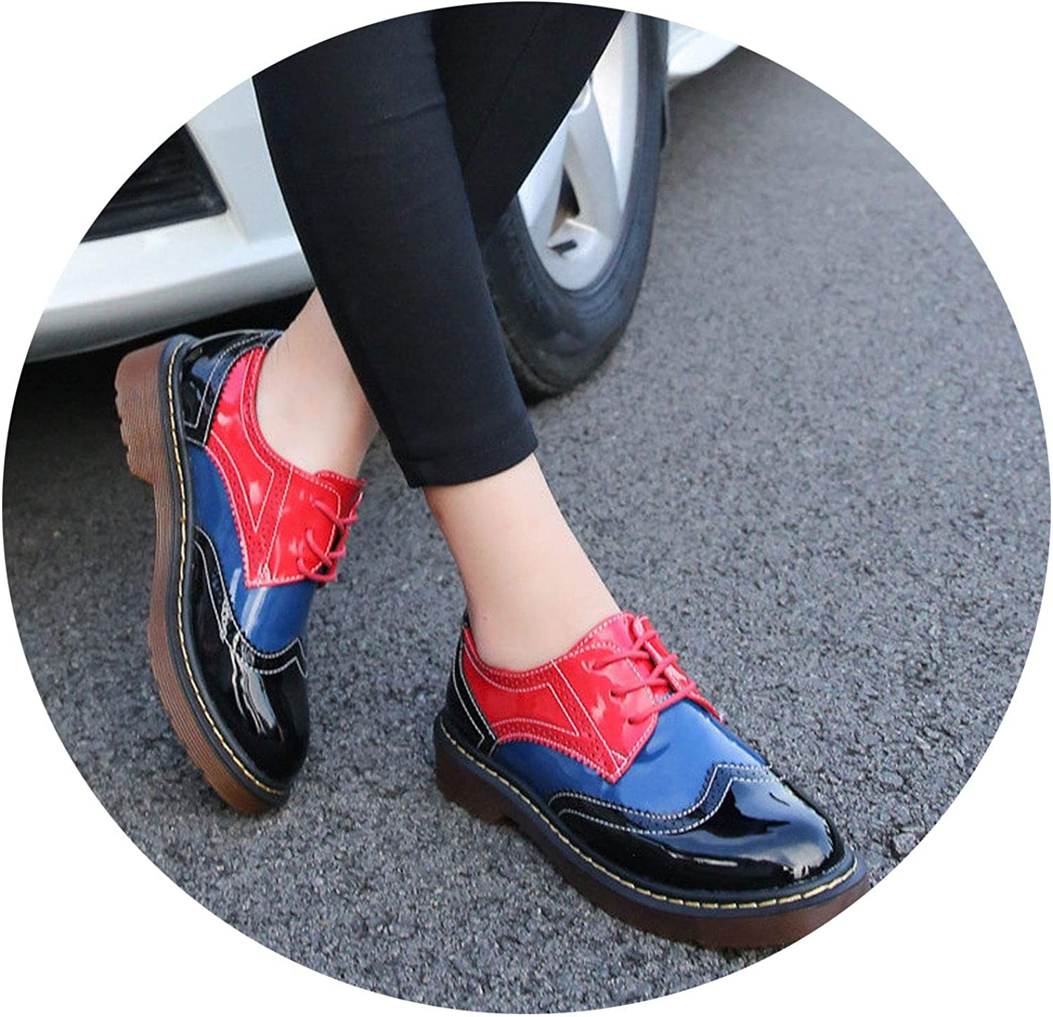 Ruoruo Women Platform Women's Oxs shoes Woman Flats Casual Vintage shoes Punk pers Footwear
