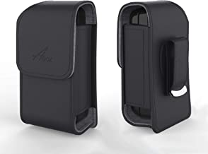 AGOZ Vertical Leather Flip Phone Belt Clip Case for Jitterbug Flip Phone, LG Exalt LTE, Samsung Convoy 4 - Holster Cover P...