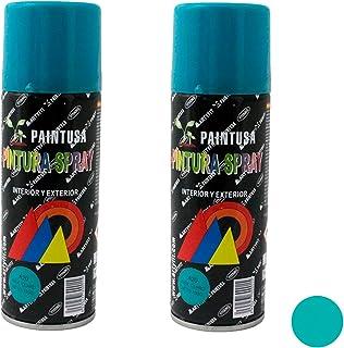Paintusa - Pack de 2 botes de pintura en spray Azul Claro A20 200 ml