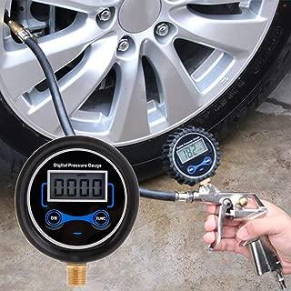 Rouge JIUY Haute pr/écision des pneus Manom/ètre 0-150 PSI R/étro-/éclairage num/érique des pneus Surveillance de la Pression jauge de Pression de Pneu de Voiture