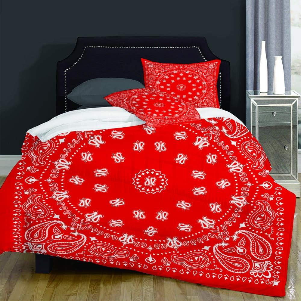 NOT Max 45% OFF Duvet Cover Award Set-Bedding Headband Western Bandana Red Pattern