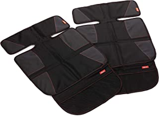 Diono Two2Go Super Mat, Car Seat Protector, Black (2-Pack)