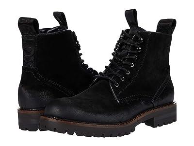 Steve Madden Mackee Logger Boot (Black Suede) Men