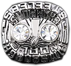 Gloral HIF 1975 Pittsburgh Steelers Super Bowl Championship Ring Collectible for Gifts Size 11 Without Box