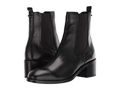 Aquatalia Jemma (Black Calf/Elastic) Women