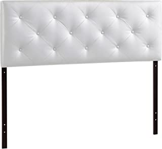 Baxton Studio Wholesale Interiors Baltimore Contemporary Faux Leather Headboard, Full, White