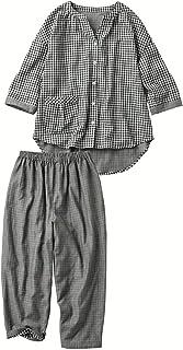 [セシール] ルームウェア ダブルガーゼの巣ごもりゆったりパジャマ 綿100% レディース