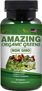 NO OGM Increíbles Verdes Orgánicos Suplemento Alimenticio Comida Entera Verdes Orgánicos Frutas y Verduras