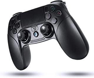 PS4 コントローラー ワイヤレスコントローラー PS3 コントローラー 無線コントローラー 重力感応 6軸機能 Bluetooth接続 Bluetooth HD振動 Playstation/PS4 Pro/Slim対応 ゲームパット搭載 DU...