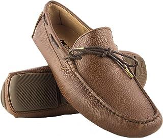 Zerimar Chaussures Bateau en Cuir pour Hommes   Chaussures Nautiques   Mocassins   Grandes Tailles 47-50