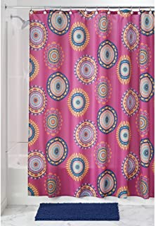 "InterDesign Padma Medallion Fabric Shower Curtain - 72"" x 72"", Fuchsia Multi Color"