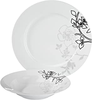 Maxwell & Williams Moon Shadow Dinner Set, 12 Pieces, Porcelain, DT79012