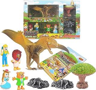 Dorakitten Kids Dinosaur Toy Set Funny Educational Dinosaur Scene Toys Dinosaur Fossil Toy Pterosaur Figures Supplies Boys