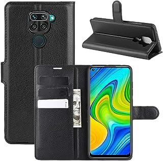 """Capa Capinha Carteira 360 Para Xiaomi Redmi Note 9 Normal Tela de 6.53"""" Polegadas Case Couro Flip Wallet - Danet (Preta)"""