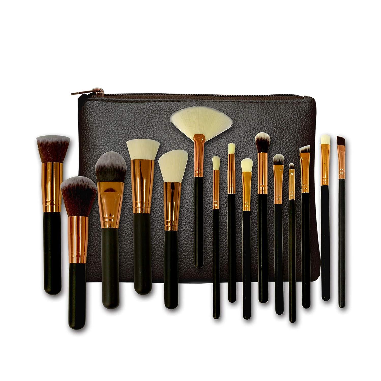 パリティシンポジウム熟考するメイクブラシ 化粧筆 15本セット 化粧ブラシセット アイシャドウ フェイス アイライン ブラシ 高級 柔らかい 人造繊維 化粧ポーチ付