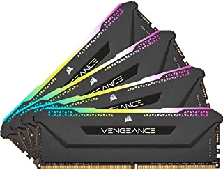 CORSAIR VENGEANCE RGB PRO SL 64GB (4x16GB) DDR4 3600 (PC4-28800) C18 1.35V Desktop Memory - Black