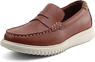 starmerx Boys Loafers لغزش گاه به گاه کودکان و نوجوانان در کفش های مدرسه Moccasin