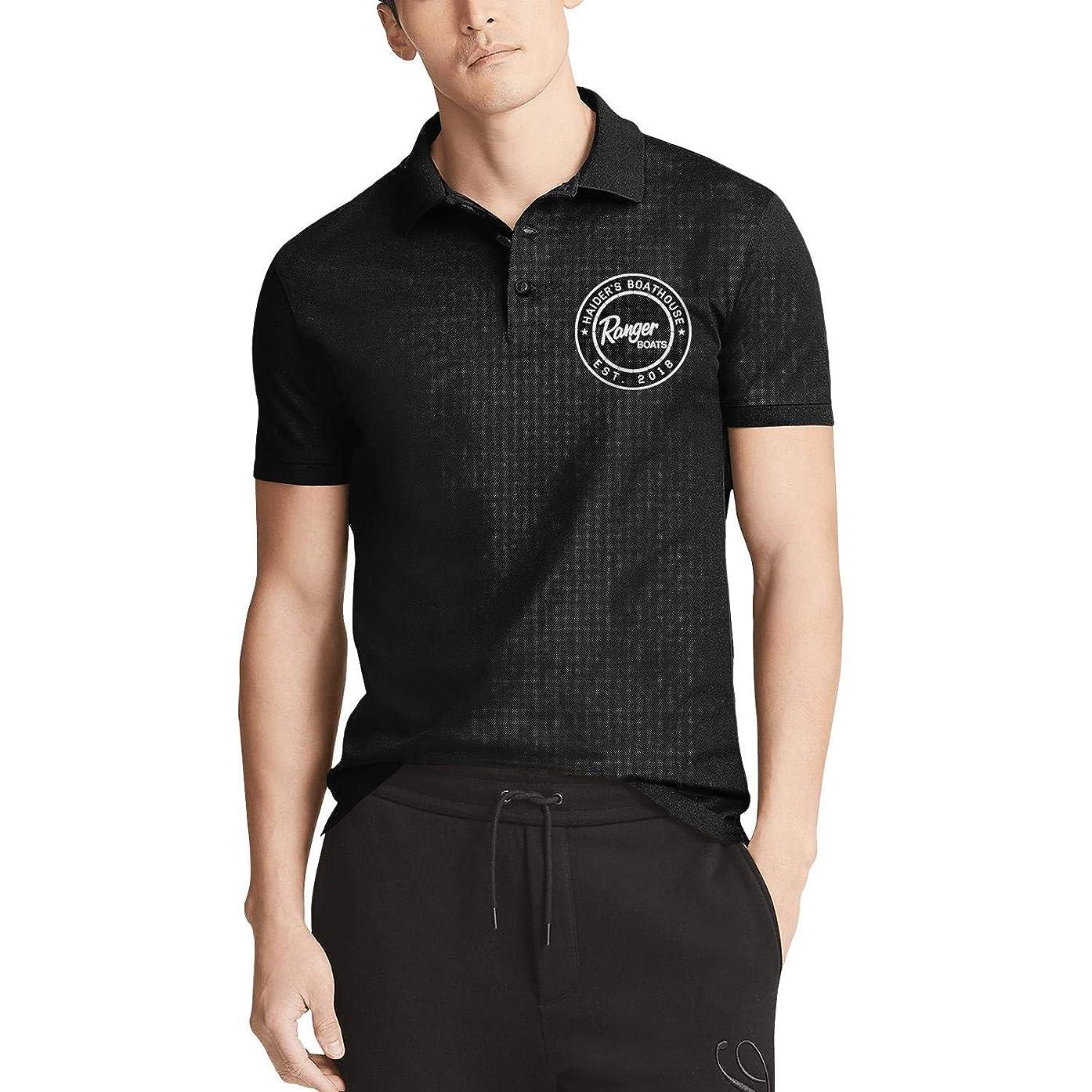 linchen Mens Ranger Boats Polo T Shirt Button Cotton T Shirt Printing Tee T Shirts Casual Tee,t-Shirt