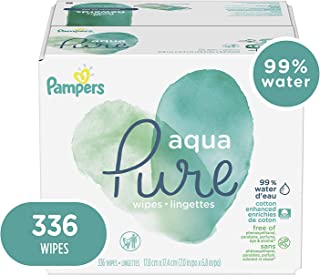 Baby Wipes, Pampers Aqua Pure Sensitive Water Baby Diaper Wipes, Hypoallergenic and..