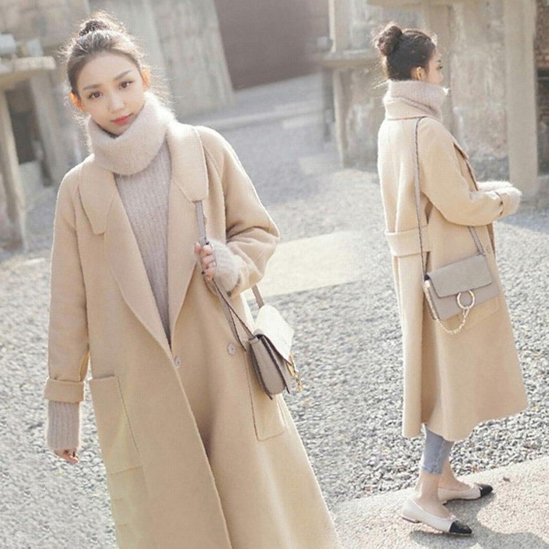 DEED Women's CoatLoose Large Size Coat Jacket Female Midties Woolen Suit