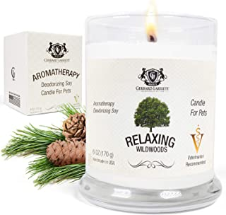 Wildwoods (Cedarwood & Vanilla) Aromatherapy Deodorizing Soy Candle for Pets, Candles Scented, Pet Odor Eliminator & Animal Lover Gift - 6 OZ (170 g)