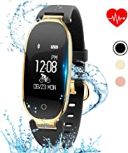 kingkok Elegant Waterproof Fitness Tracker for Women Smart Bluetooth Pedometer Watch Band Multi-Mode Wireless Activity Tracker Bracelet