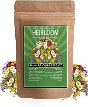 Wildflower Seeds - Premium Flower Seeds Pack [4oz / 18 Variety] Perennial Garden Seeds for Attracting Birds & Butterflies - Flower Seeds for Planting Outdoor