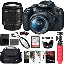 Canon EOS Rebel 2000D - Cámara réflex digital con Canon EF-S 0.709-2.165in f/3.5-5.6 is II con estuche para gadget + tarjeta de memoria Sandisk Ultra de 128 GB + paquete de software fotográfico + kit de accesorios + TopKnotch