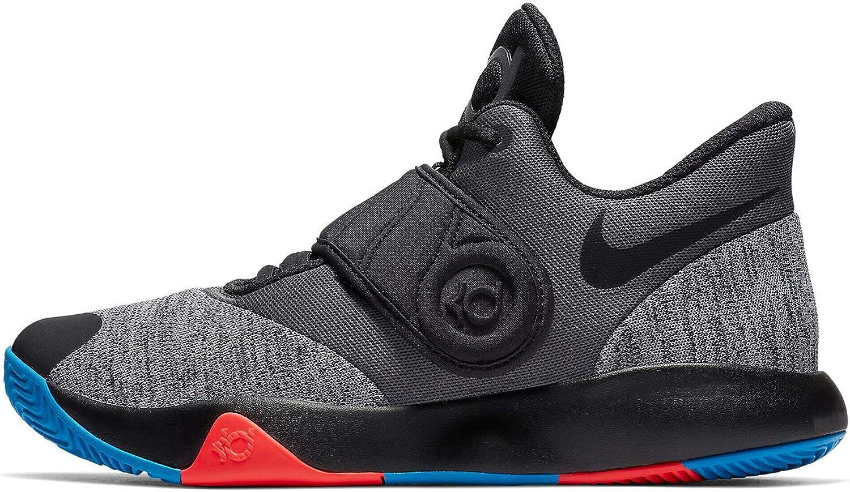 Nike Men's KD Trey 5 VI Basketball shoes Black Chrome Photo bluee Bright Crimson Size 11 M US