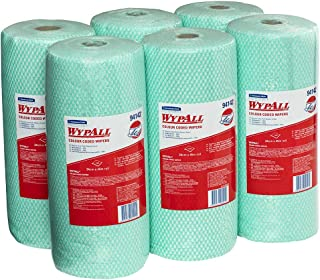 WypAll Colour Coded Wiper Rolls,  Green,  106 Wipers/Roll,  Case of 6 Rolls