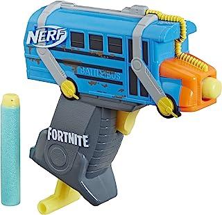 Nerf MicroShots Fortnite Micro Battle Bus -- Mini Dart-Firing Blaster and 2 Official Nerf Elite Darts -- For Youth, Teens,...