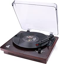 Deck Vinyl Record Player,dl Vintage Turntable Buit in 2x1W Stereo Speakers, Aux in,Line Out,PC Encording Record Player