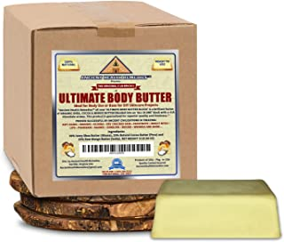 Organic Shea, Cocoa, Mango Butter ULTIMATE BODY BUTTER Raw, Unrefined Skincare Ingredient for Homemade DIY Lotion Making, ...