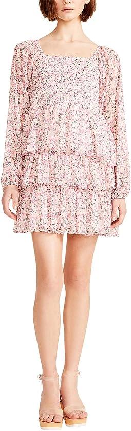 Tripple Ruffle Smocked Peasant Dress