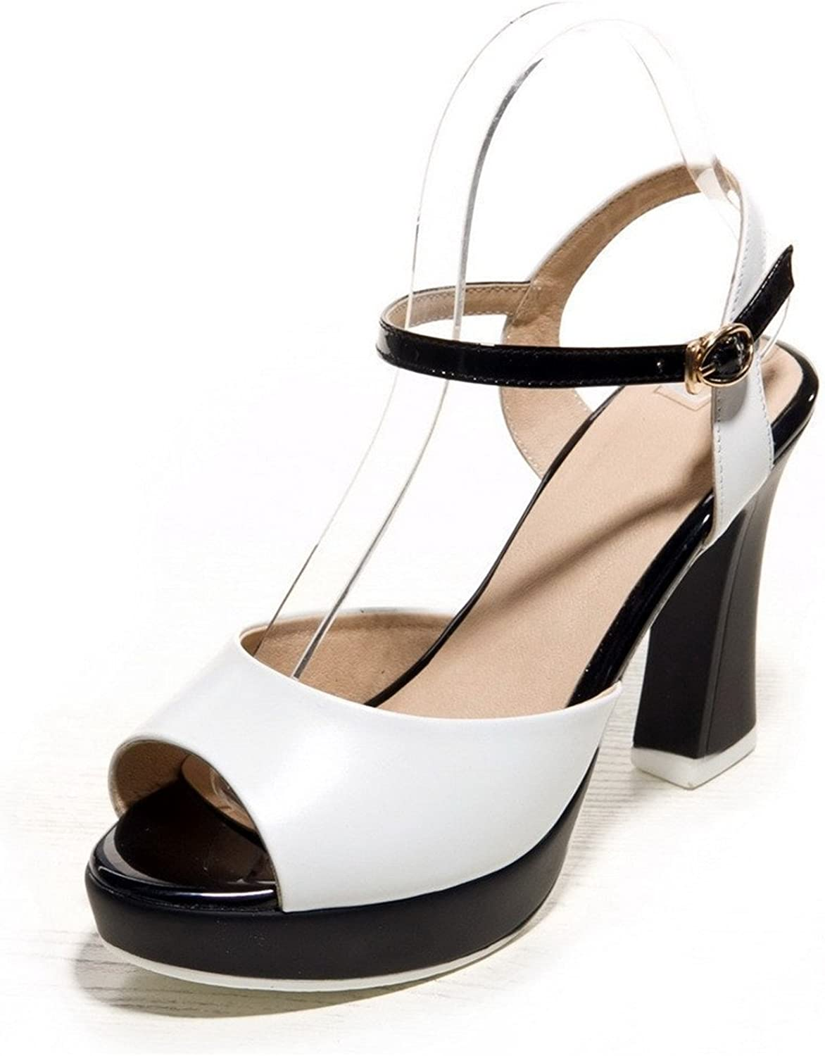Xiaoyouny Fashionable Women's Soft Material Buckle Peep Toe High-Heels Assorted color Sandals