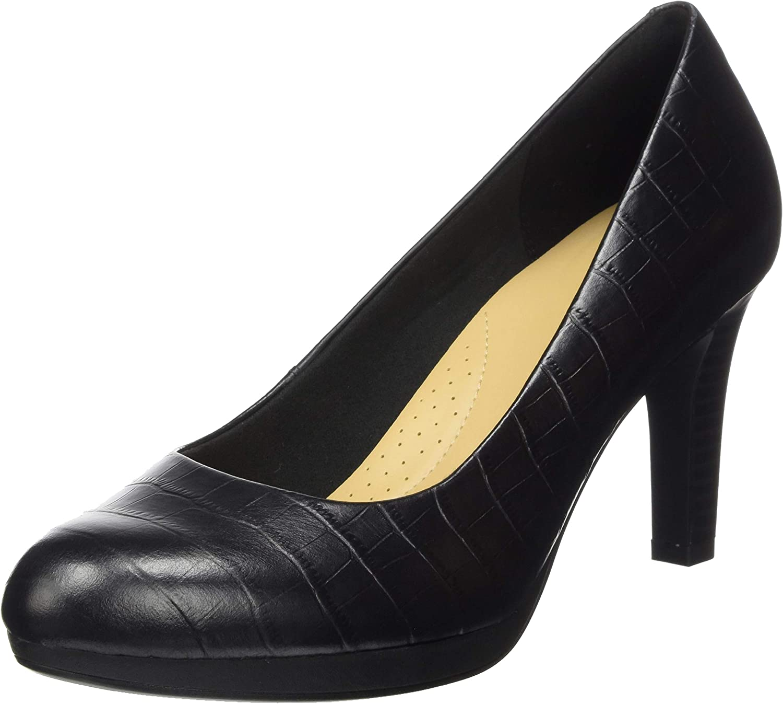 Clarks Adriel Viola Zapatos de Vestir par Uniforme Mujer