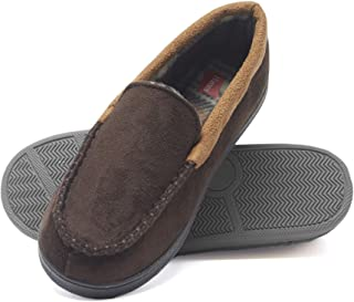 Image of A Customer Favorite: Hanes Moccasin House Shoe for Boys - See More Colors