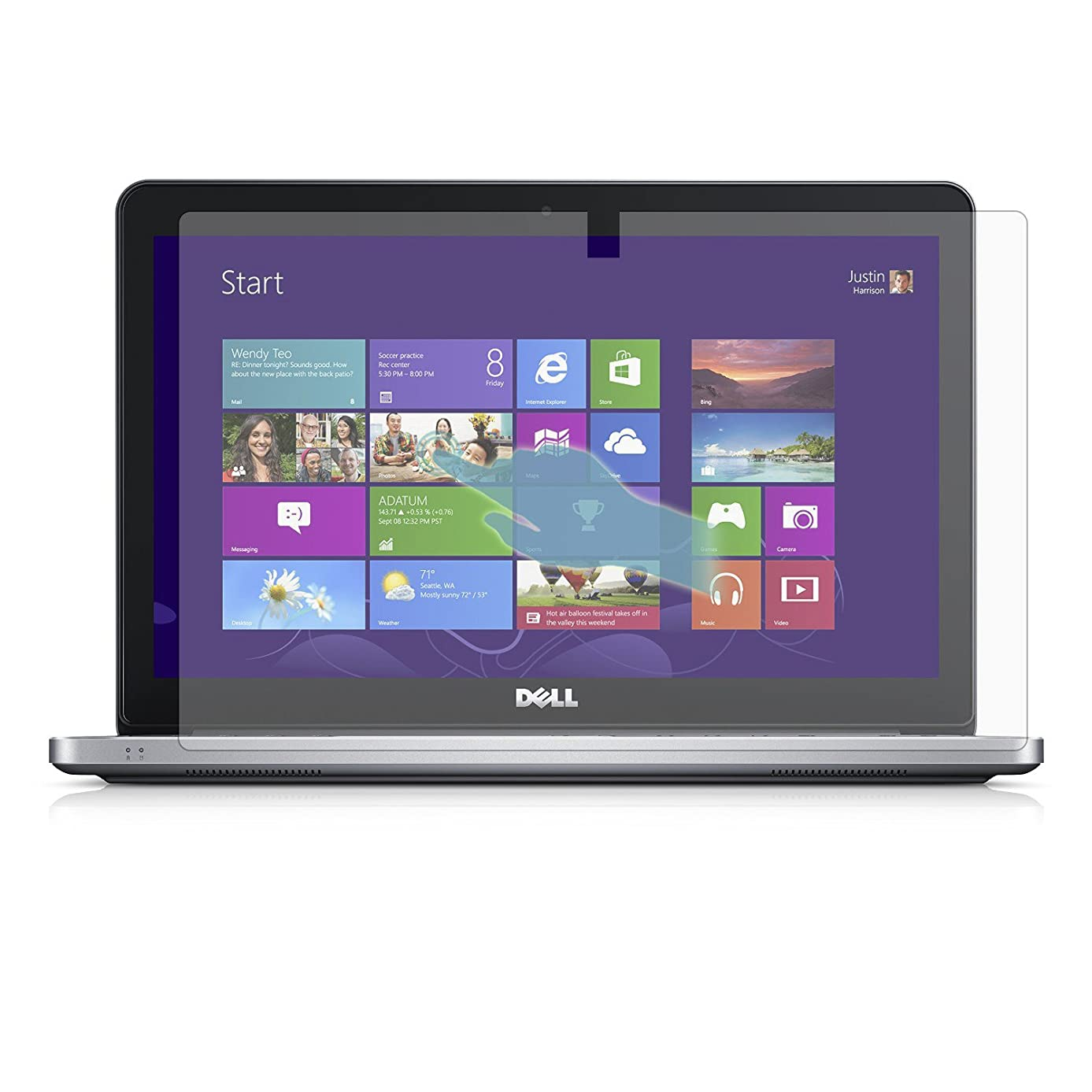 PcProfessional Screen Protector (Set of 2) for Dell Inspiron 15 7000 Series 15.6