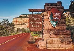 Zion National Park, Utah, Mountains, National Park Entrance, Souvenir 2 x 3 Photo Fridge Magnet