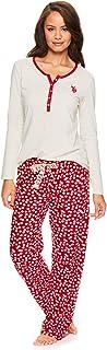 Womens Casual Long Sleeve Shirt and Pajama Pants Sleep...