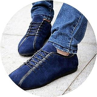 Casual Shoes Spring & Shoes Men Suede Genuine Leather Shoes Men Flats Zapatillas LS090