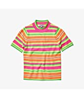 Short Sleeve Fluo Knit Sweater