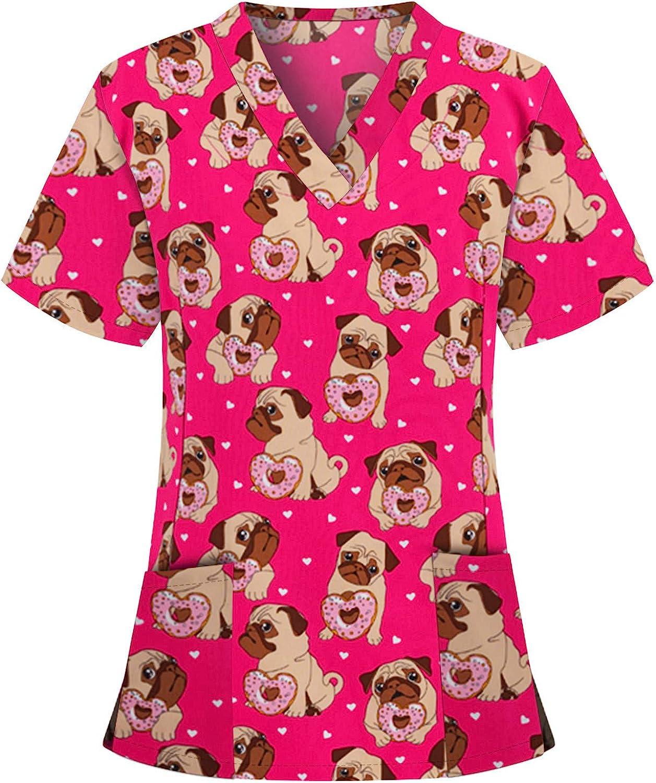 HTDBKDBK Tops for Women Ranking TOP9 It is very popular Summer Short Print Fashion V-Neck Sleeve