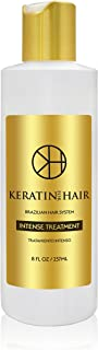 Brazilian Keratin Hair Treatment Professional Intense Smoothing Complex Blowout with Argan Oil New Formula & Fragrance By Keratin For Hair For all hair types Damage Frizzy Coarse Afro hair (8 fl oz)
