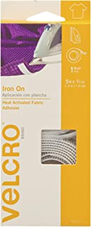 VELCRO Brand 91029C Iron On Tape for Alterations and Hemming | No Sewing or Gluing | Heat Activated for Thicker Fabrics | Cut-to-Length Roll, 5 ft x 3/4