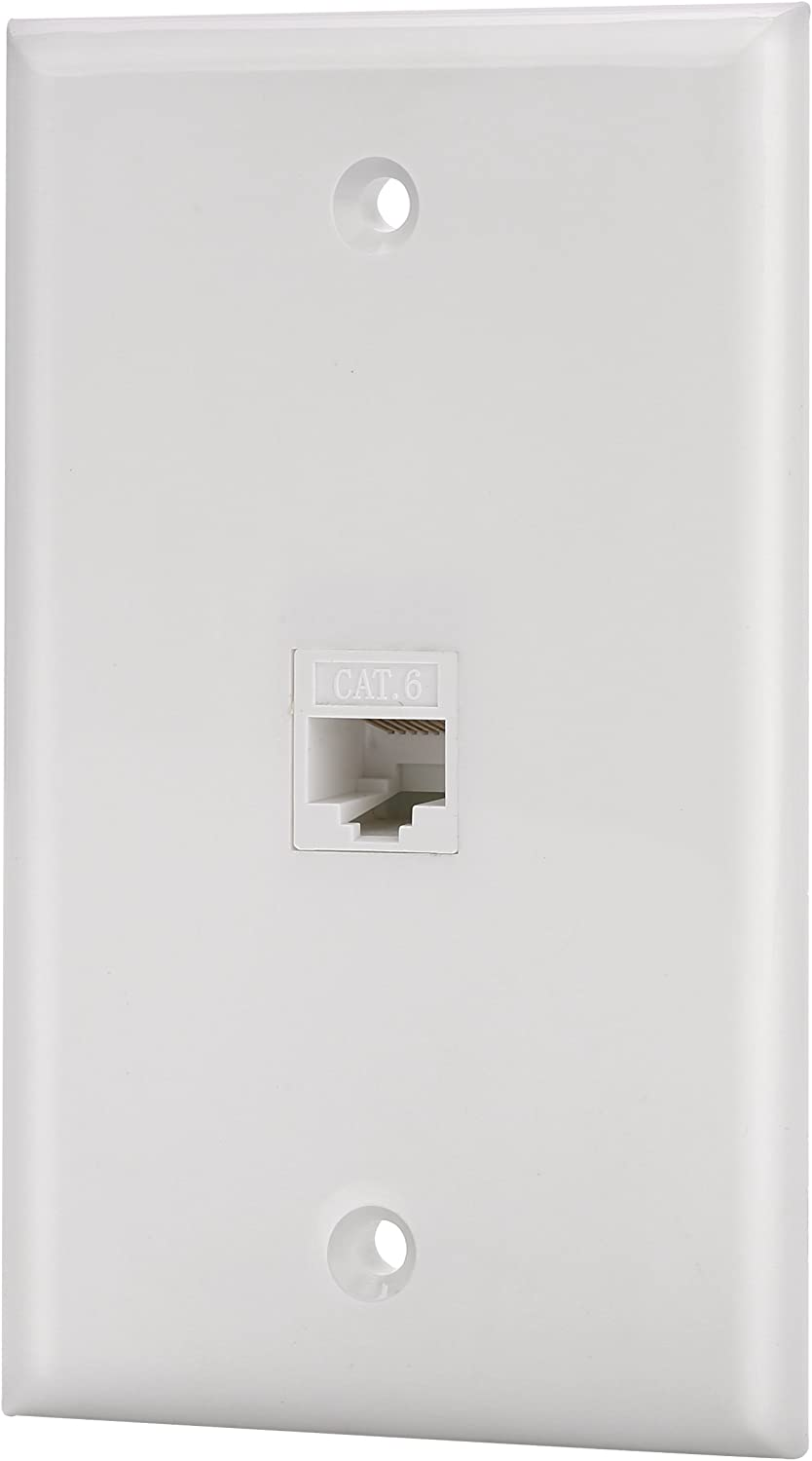 IBL-1 Port Cat6 New York Mall Keystone Ethernet cheap Wh Female Wall Plate to