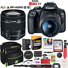 $429 » Canon EOS Rebel T7 DSLR Camera with EF-S 18-55mm f/3.5-5.6 is II Lens Essential Accessory Bundle with Deco Gear Photography Gadget Bag + 32GB + Extended Warranty + Editing Software & Maintenance Kit
