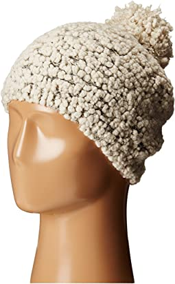KnH3370 Textured Beanie with Gold Sequins
